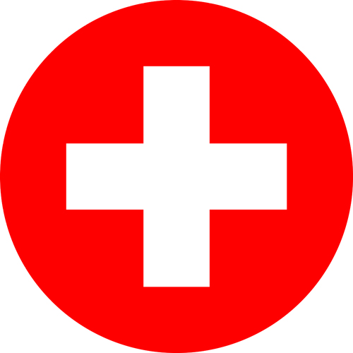 switzerland flag round small